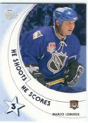 2002-03 BAP All-Star Edition He Shoots-He Scores Points #19 Mario Lemieux 3 pt.