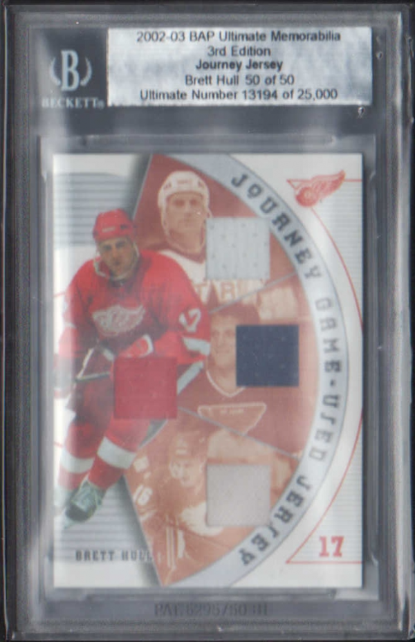 2002-03 BAP Ultimate Memorabilia Journey Jerseys #4 Brett Hull