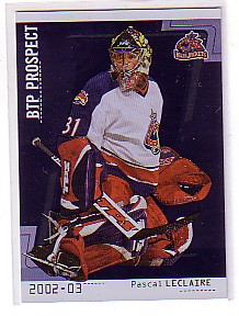 2002-03 Between the Pipes #108 Pascal Leclaire RC