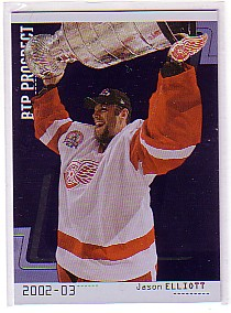 2002-03 Between the Pipes #109 Jason Elliott RC