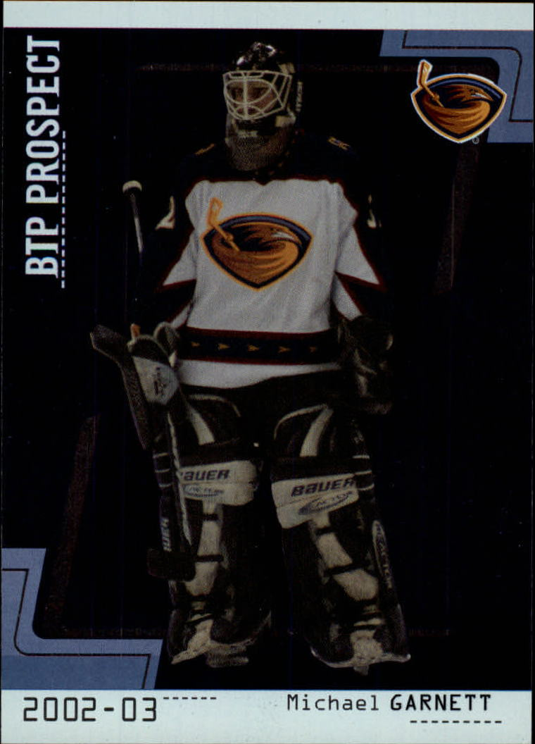 2002-03 Between the Pipes #110 Michael Garnett RC