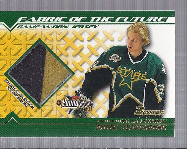 2002-03 Bowman YoungStars Jerseys #NK Niko Kapanen