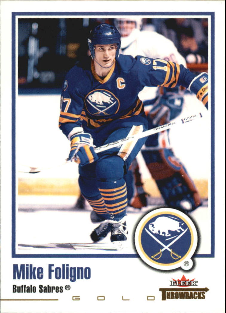 2002-03 Fleer Throwbacks Gold #4 Mike Foligno