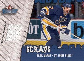 2002-03 Fleer Throwbacks Scraps #1 Basil McRae