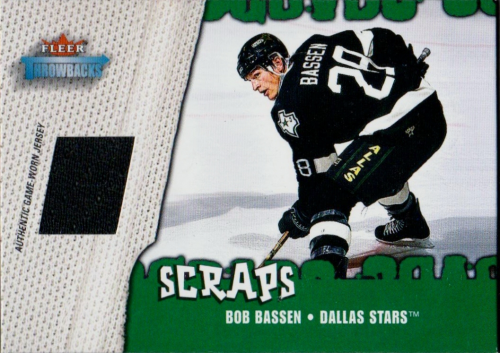 2002-03 Fleer Throwbacks Scraps #3 Bob Bassen