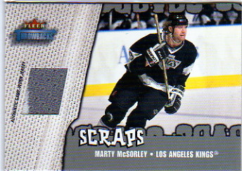 2002-03 Fleer Throwbacks Scraps #6 Marty McSorley