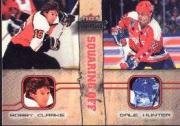 2002-03 Fleer Throwbacks Squaring Off #6 Bobby Clarke/Dale Hunter