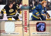2002-03 Fleer Throwbacks Squaring Off Memorabilia #4 Terry O'Reilly JSY/Jim Schoenfeld JSY