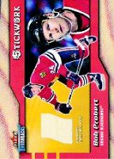 2002-03 Fleer Throwbacks Stickwork #13 Bob Probert
