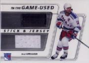 2002-03 ITG Used Jersey and Stick #SJ17 Mark Messier