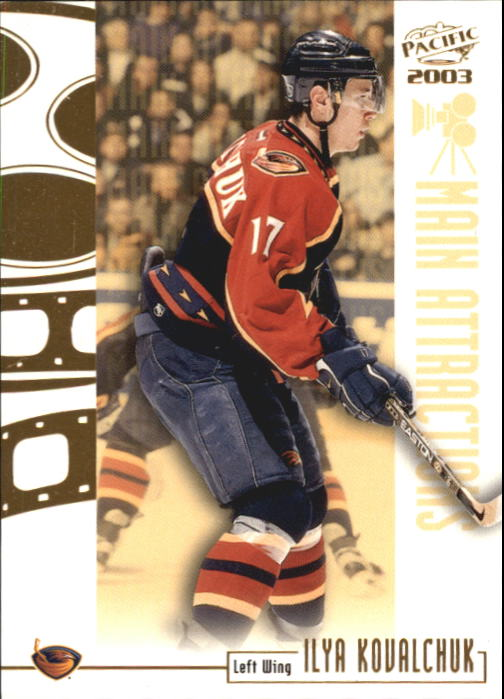 2002-03 Pacific Main Attractions #2 Ilya Kovalchuk front image