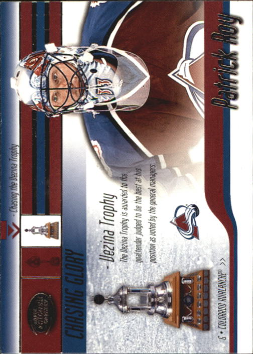 2002-03 Pacific Calder Chasing Glory #3 Patrick Roy