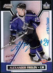 2002-03 Pacific Exclusive #199 Alexander Frolov AU RC
