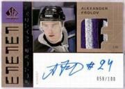 2002-03 SP Authentic Signed Patches #PAF Alexander Frolov