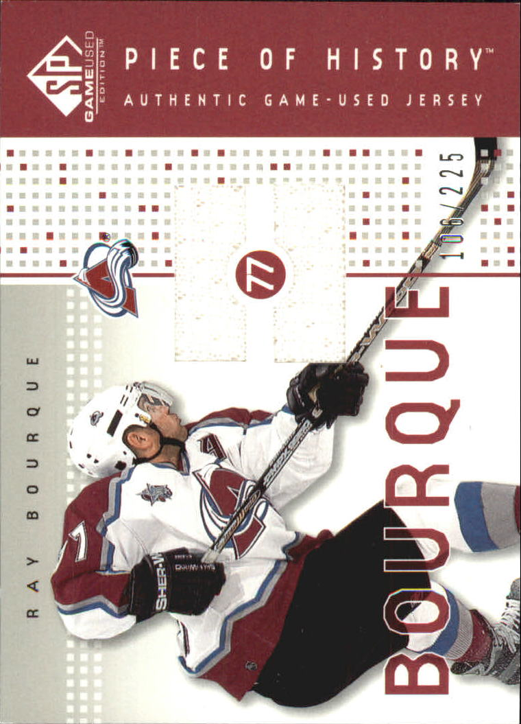 2002-03 SP Game Used Piece of History #PHBQ Ray Bourque