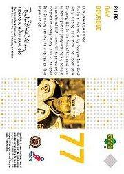 2002-03 SP Game Used Piece of History #PHRB Ray Bourque back image