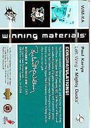 2002-03 SPx Winning Materials #WMKA Paul Kariya JSY/JSY