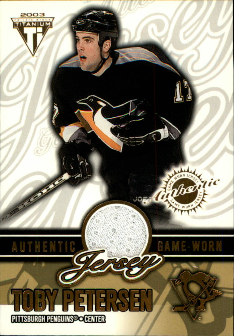 2002-03 Titanium Jerseys #55 Toby Petersen/1320
