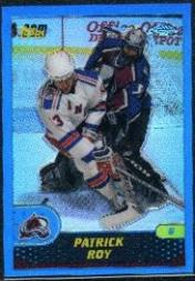 2002-03 Topps Chrome Patrick Roy Reprints Refractors #14 Patrick Roy/2001-02 Topps