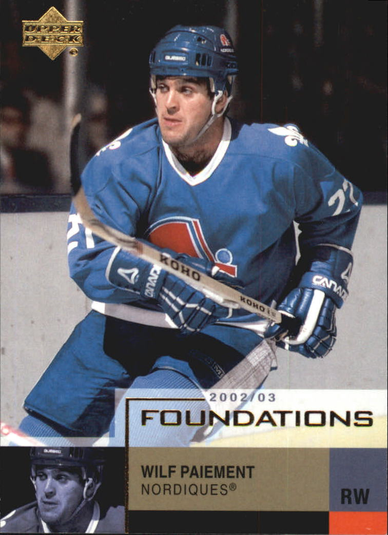 2002-03 Upper Deck Foundations #81 Wilf Paiement