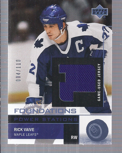 2002-03 UD Foundations Power Stations #SRV Rick Vaive