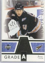 2002-03 Upper Deck Honor Roll Grade A Jerseys #GAJJ Jaromir Jagr