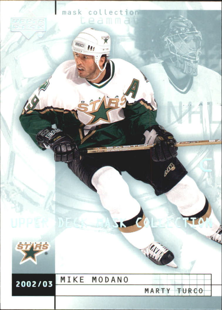 2002-03 UD Mask Collection #28 Mike Modano/Marty Turco