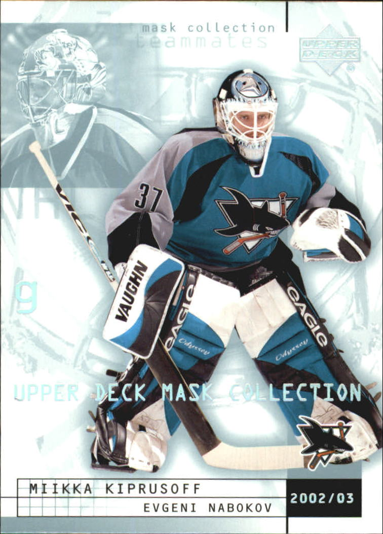 2002-03 UD Mask Collection #74 Miikka Kiprusoff/Evgeni Nabokov