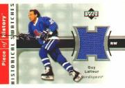 2002-03 UD Piece of History Historical Swatches Jerseys #HSGL Guy Lafleur