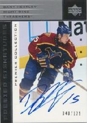 2002-03 UD Premier Collection Signatures Silver #SDH Dany Heatley