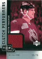 2002-03 UD Top Shelf Clutch Performers Jerseys #CPKT Keith Tkachuk