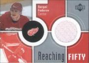 2002-03 Upper Deck Reaching Fifty Jerseys #50SF Sergei Fedorov
