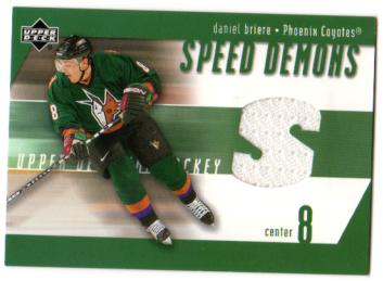 2002-03 Upper Deck Speed Demons Jerseys #SDDB Daniel Briere