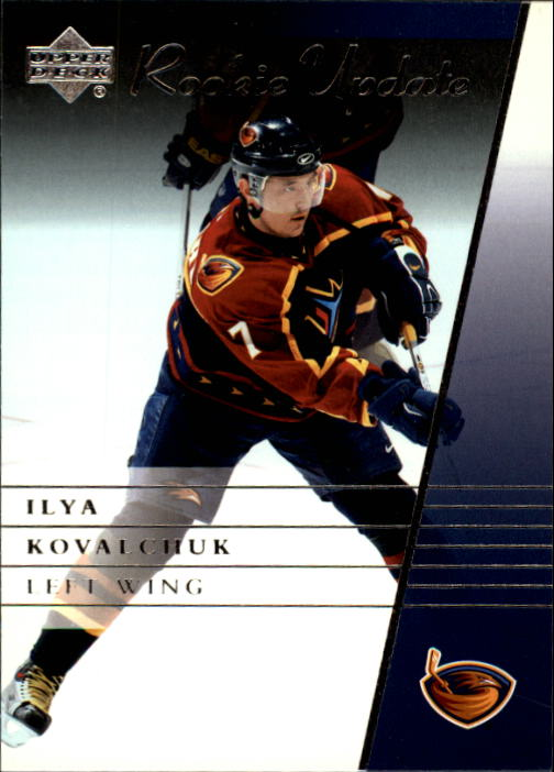 2002-03 Upper Deck Rookie Update #6 Ilya Kovalchuk