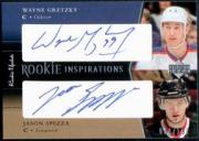 2002-03 Upper Deck Rookie Update #163 Jason Spezza AU RC/Wayne Gretzky AU