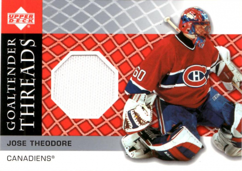 2002-03 Upper Deck Goaltender Threads Jerseys #JT Jose Theodore