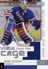 2002-03 UD Mask Collection View from the Cage Jerseys #VMR Mike Richter