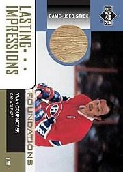 2002-03 Upper Deck Foundations Lasting Impressions Sticks #LYC Yvan Cournoyer
