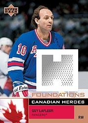 2002-03 UD Foundations Canadian Heroes #CGL Guy Lafleur