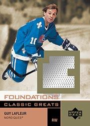 2002-03 UD Foundations Classic Greats #GGL Guy Lafleur