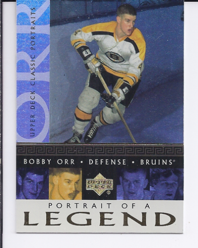 2002-03 Upper Deck Classic Portraits Portrait of a Legend #PL1 Bobby Orr
