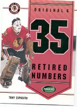 2003-04 Parkhurst Original Six Chicago Inserts #C3 Tony Esposito