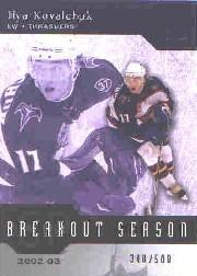 2003-04 SP Authentic Breakout Seasons #B25 Ilya Kovalchuk