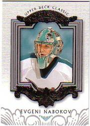 2003-04 Upper Deck Classic Portraits #82 Evgeni Nabokov