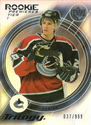 2003-04 Upper Deck Trilogy #184 Ryan Kesler RC