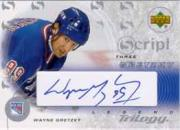 2003-04 Upper Deck Trilogy Scripts #S3GY Wayne Gretzky NYR