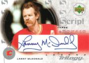 2003-04 Upper Deck Trilogy Scripts #S3LM Lanny McDonald