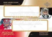 2003-04 Upper Deck Rookie Update #159 Marc-Andre Fleury AU RC/Patrick Roy AU