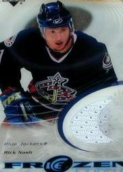2003-04 Upper Deck Ice Frozen Fabrics #FFRN Rick Nash