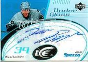 2003-04 Upper Deck Ice Under Glass Autographs #UGJS Jason Spezza